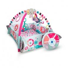 Edukacyjna mata plac zabaw deluxe z piłeczkami pink 10786