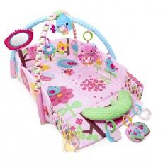 Edukacyjna mata plac zabaw sowa pink 52158