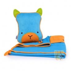 Kocyk i poduszka Bert niebieski TRUA-0073