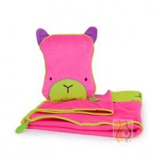 Kocyk i poduszka Betsy róż TRUA-0074