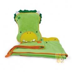 Kocyk i poduszka Dudley zielony TRUA-0076