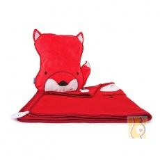 Kocyk i poduszka Felix czerwony TRUA-0128