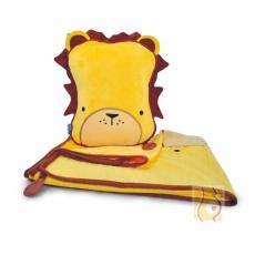Kocyk i poduszka Leeroy żółty TRUA-0077