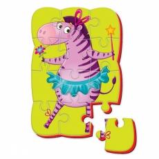 Magnesy piankowe puzzle A5 Śmieszne zdjęcia Zebra