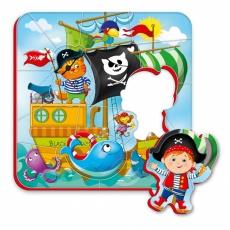 Magnesy piankowe puzzle Piraci