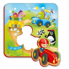 Magnesy piankowe puzzle Wyścigi