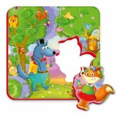 Magnesy piankowe puzzle Mieszkańcy lasu