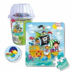 Magnesy piankowe puzzle Piraci w kubku