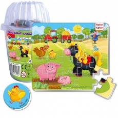 Magnesy piankowe puzzle Farma w kubku