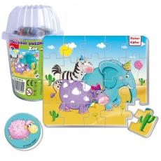 Magnesy piankowe puzzle Zoo w kubku