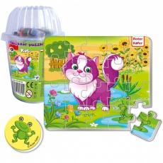 Magnesy piankowe puzzle Kot w kubku