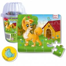 Magnesy piankowe puzzle Piesek w kubku