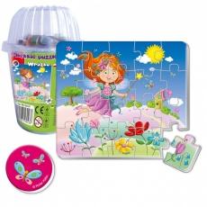 Magnesy piankowe puzzle Wróżka w kubku