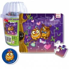 Magnesy piankowe puzzle Sowy w kubku