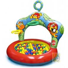 Nadmuchiwany basen z 20 piłeczkami - dżungla PW-3067