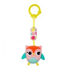 PINK zawieszka dzwoneczek sowa