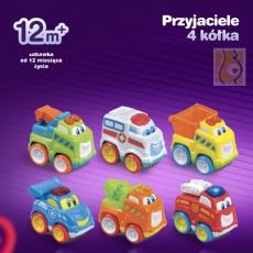 Przyjaciele 4 kółka - zestaw 6 autek DD42860