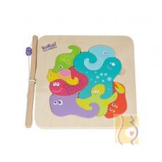 Puzzle morskie 2w1 układaj i wędkuj BKN-8533