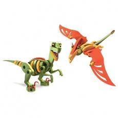 Puzzle piankowe 3D Bloco Velociraptor&Pterosaur DD20001