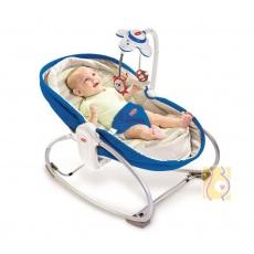 Wielofunkcyjny leżaczek-bujaczek-łóżeczko 3w1 do 18kg niebieski