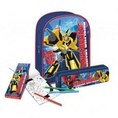 Zestaw Transformers: plecak, piórnik, kredki i kolorowanka