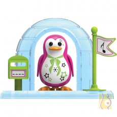 OU DigiPenguins z igloo Parker ciemno różowy S88344/44