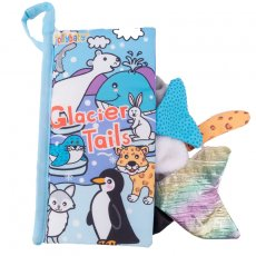 Jolly Baby Książeczka z ogonkami New glacier animal tail cloth book EN