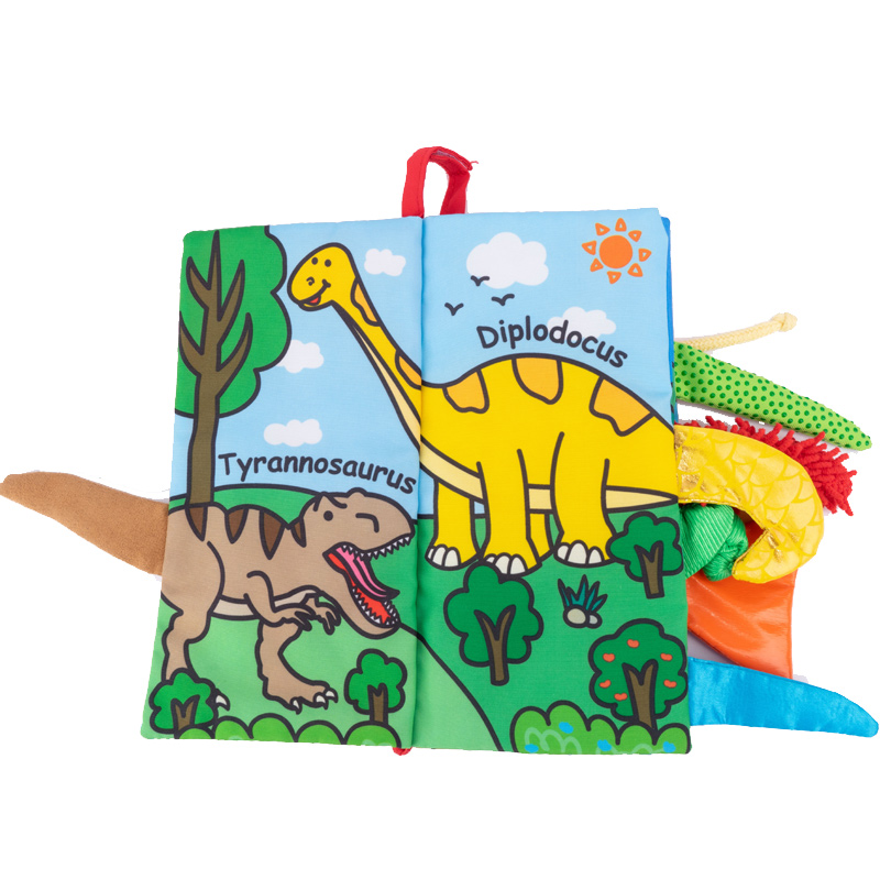 Jolly Baby Książeczka Dinosaur tail cloth book EN